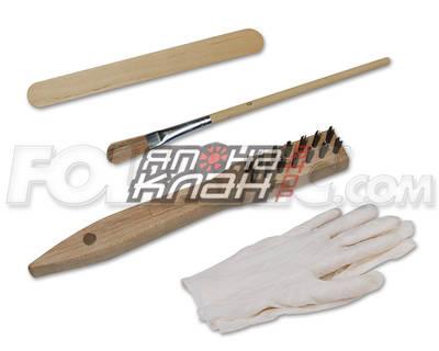 Набор для покраски суппортов (кисточка+перчатки+щётка) 2199