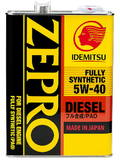 Масло моторное IDEMITSU ZEPRO DIESEL 5W-40 CF FULLY SYNTHETIC 4L