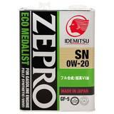 Масло моторное IDEMITSU ZEPRO ECO MEDALIST 0W20 SN/GF-5 4L