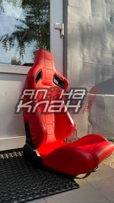 Кресло спортивное TBOX Sportster Premium кожа красная