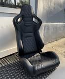 Кресло спортивное TBOX Sportster Premium кожа ромб черное