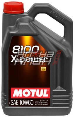 Моторное масло Motul 8100 X-POWER 10W-60 (4л)