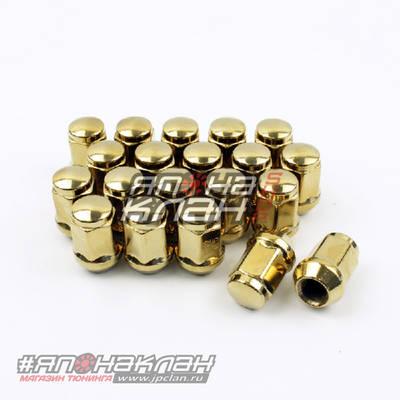 Гайки колесные Starleks M12*1.5 золотые