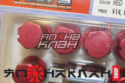 Гайки RAYS алюминиевые 1.25 красные
