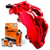 Краска для суппортов FOLIATEC Красная Red Neon трёхкомпонентная (2185)