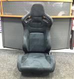 Кресло спортивное Recaro Sportster CS style черная замша + красная строчка