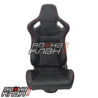 Кресло спортивное Recaro Sportster CS style черные + красная строчка