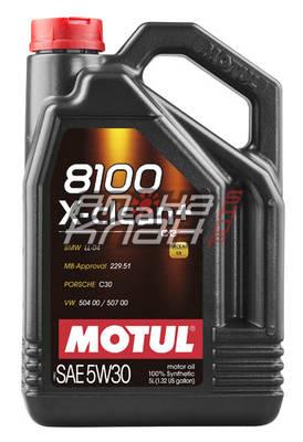 Моторное масло Motul 8100 X-Clean+ 5w-30 (5л)