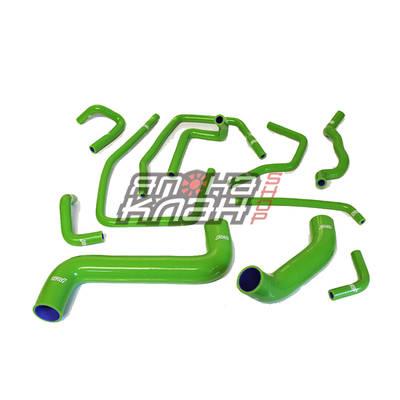 Патрубки системы охлаждения Subaru GD 11шт зеленые