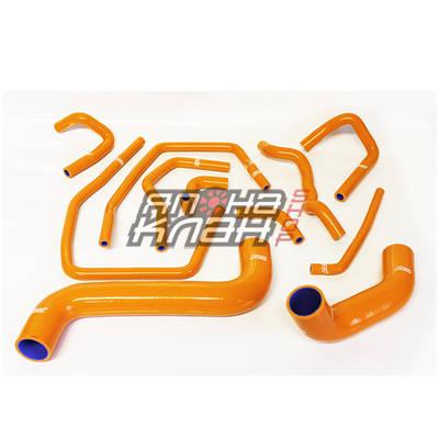 Патрубки системы охлаждения Subaru GD 11шт оранжевые