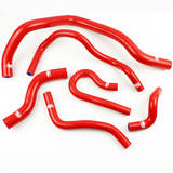 Патрубки радиатора Honda Civic D15/16 EG/EK 6шт красные