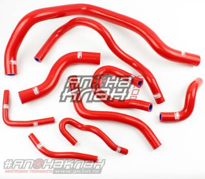 Патрубки радиатора Honda Civic D15/16 EG/EK Vtek 9шт красные