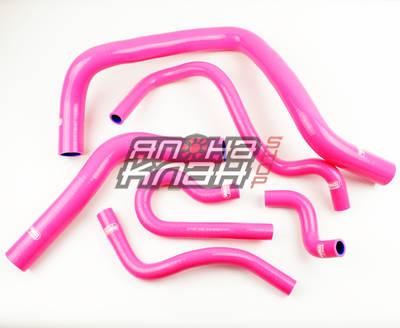Патрубки радиатора Honda TypeR DC2 EK4/9 B16A 6шт розовые