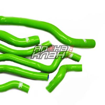 Патрубки радиатора Honda Civic/integra B16 2шт зеленые