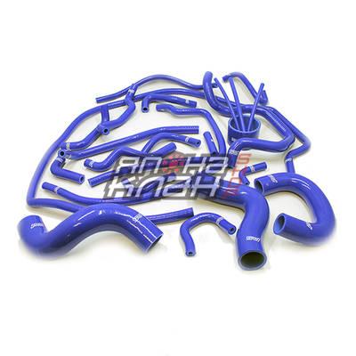 Патрубки системы охлаждения и радиатора Subaru Forester SF5 турбо синие
