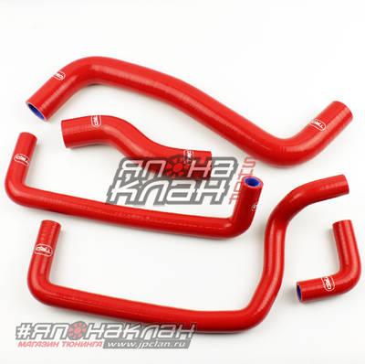 Патрубки системы охлаждения и радиатора Toyota Levin 101/111 4a-7aFE красные