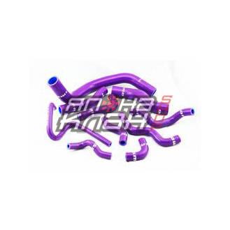 Патрубки системы охлаждения Nissan SIlvia SR20DETT 11шт фиолетовые