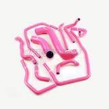 Патрубки системы охлаждения Subaru GD 11шт розовые