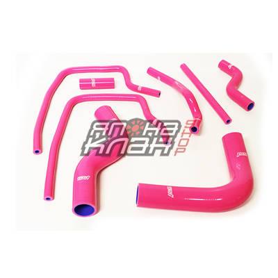 Патрубки системы охлаждения Subaru GC8 8 шт розовый