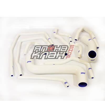 Патрубки системы охлаждения Subaru GD 11шт белые