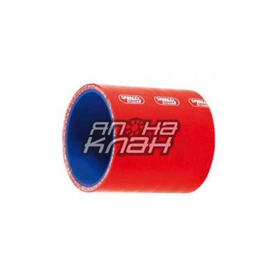 Патрубок силиконовый 70-76мм красный