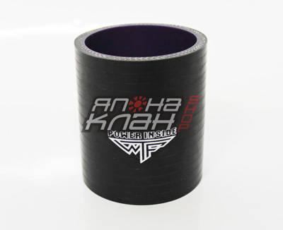 Патрубок силиконовый усиленный 102-102мм черный