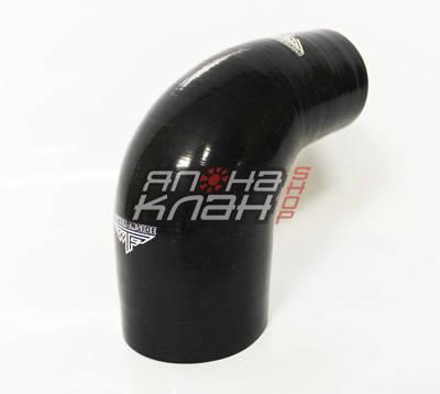 Патрубок силиконовый усиленный 76-83 мм 90 гр черный
