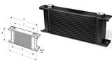 Радиатор масляный 15 рядов 405 mm ширина ProLine STD (M22x1,5 выход) Setrab 50-915-7612