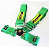Ремни безопасности 4х точечные с омологацией Beltenick зеленые