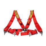 Ремни безопасности 4х точечные SABELT быстросъемные красные