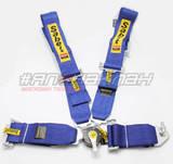 Ремни безопасности 4х точечные SABELT быстросъемные синие