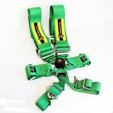 Ремни безопасности 6х точечные с омологацией Beltenick HANS зеленые