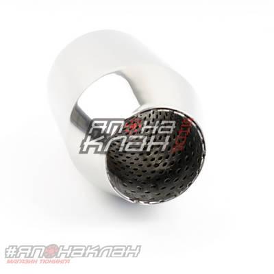 Резонатор спортивный для выпускных систем длина 200мм, 63мм диаметр выходов, 102 внешний диаметр