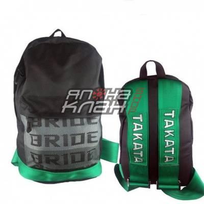 Рюкзак Bride ремни Takata зеленые green