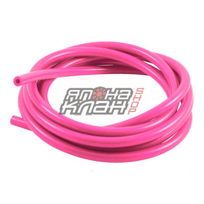 Шланг силиконовый 4*7мм (вакуумный) розовый