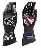 Перчатки для автоспорта SPARCO ARROW RG-7, FIA, черный/красный, размер 10, 00130909NRRS