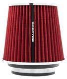 Фильтр нулевого сопротивления универсальный Spectre 8132 посадочный D=76/89/102 мм высота H= 171 мм Красный