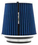 Фильтр нулевого сопротивления универсальный Spectre 8136 посадочный D=76/89/102 мм высота H=171 мм Синий