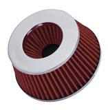 Фильтр нулевого сопротивления универсальный Spectre 8162 посадочный D=76/89/102 мм высота H=67 мм Красный