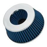 Фильтр нулевого сопротивления универсальный Spectre 8166 посадочный D=76/89/102 мм высота H=67 мм Синий