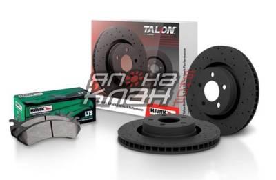 Тормозные диски HAWK + колодки LTS Toyota LC200 Lexus LX570 HKC4980.589Y КОМПЛЕКТ ЗАДНИЙ